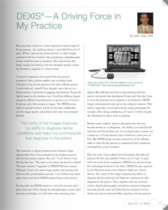 DEXIS article by Cedric Chenet, DDS